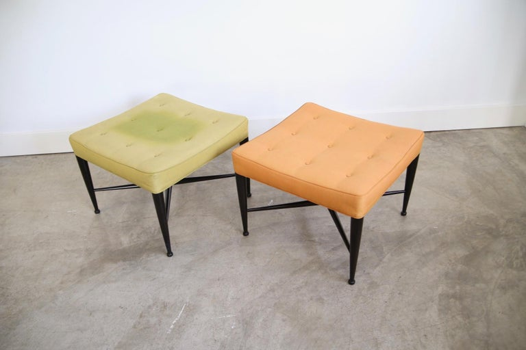 Mid-Century Modern Edward Wormley for Dunbar Foot Stools For Sale