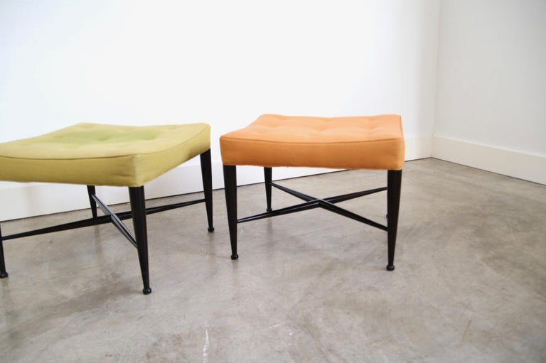 American Edward Wormley for Dunbar Foot Stools For Sale