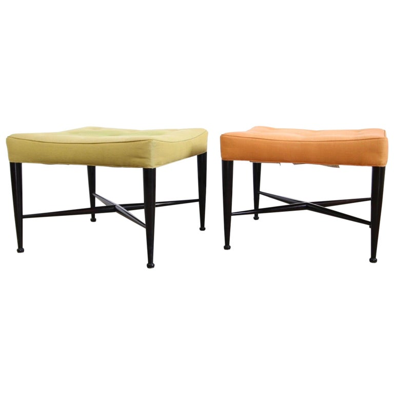 Edward Wormley for Dunbar Foot Stools For Sale