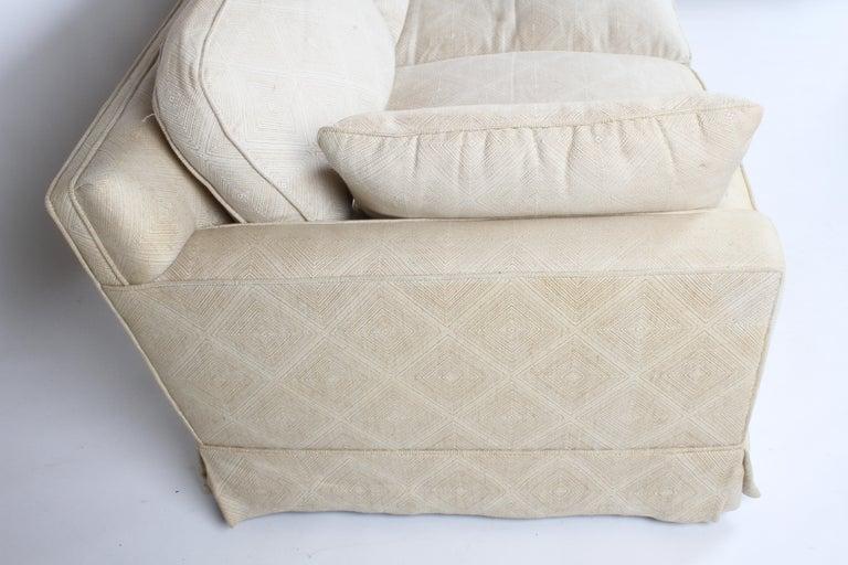 Edward Wormley for Dunbar Formal Tuxedo Down Filled Sofa For Sale 3