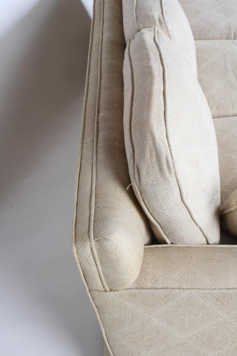American Edward Wormley for Dunbar Formal Tuxedo Down Filled Sofa For Sale