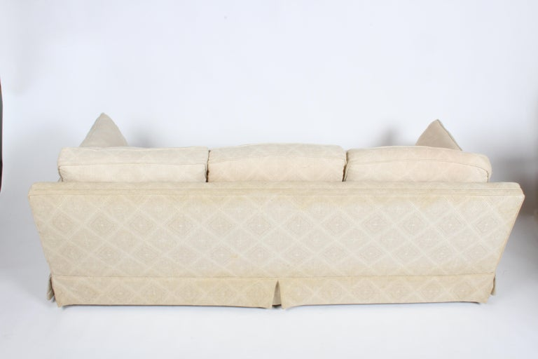 Edward Wormley for Dunbar Formal Tuxedo Down Filled Sofa In Good Condition For Sale In St. Louis, MO
