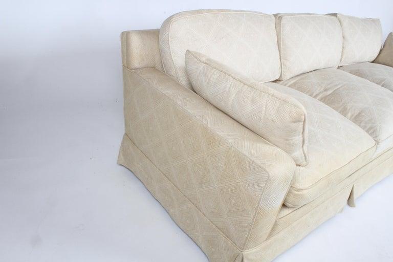 Mid-20th Century Edward Wormley for Dunbar Formal Tuxedo Down Filled Sofa For Sale