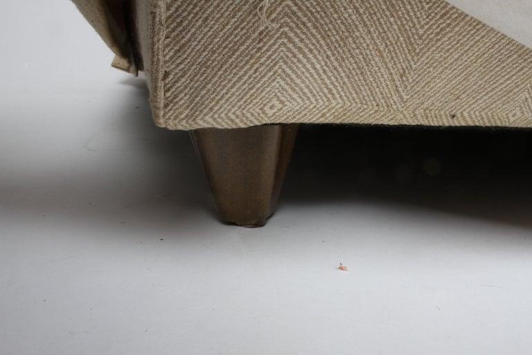 Edward Wormley for Dunbar Formal Tuxedo Down Filled Sofa For Sale 1