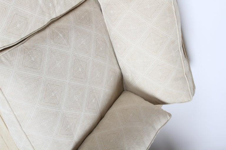 Edward Wormley for Dunbar Formal Tuxedo Down Filled Sofa For Sale 2