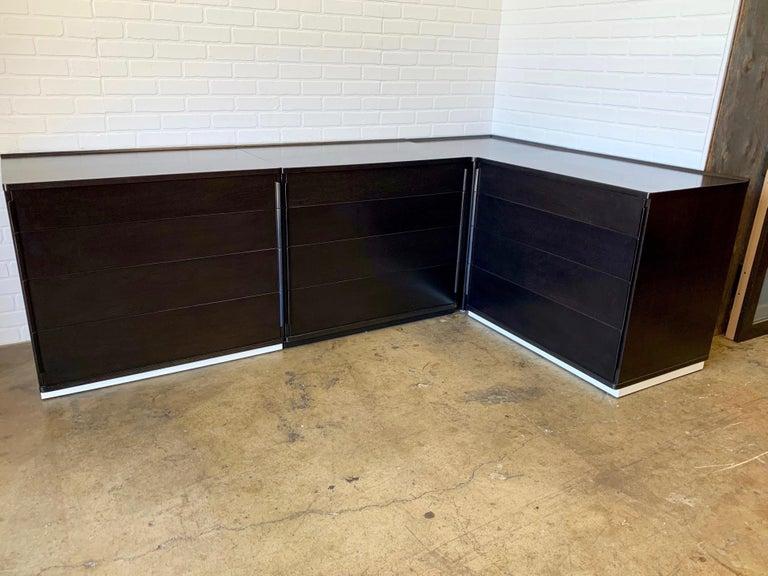 North American Edward Wormley for Dunbar Four-Piece Corner Dresser For Sale