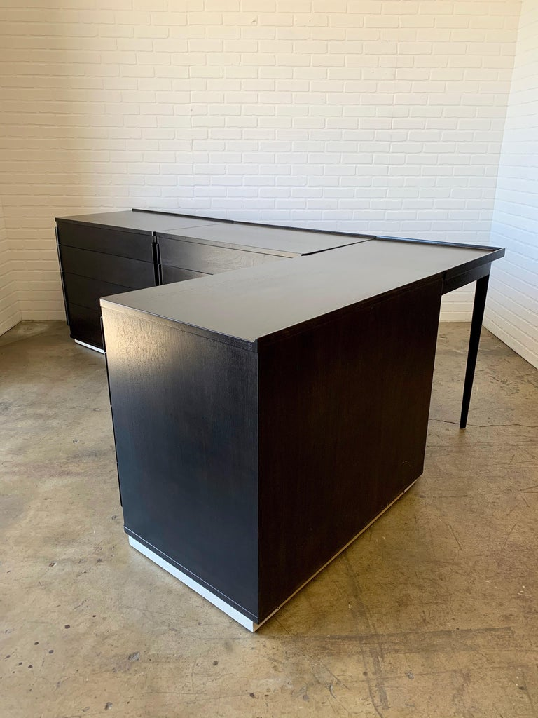Edward Wormley for Dunbar Four-Piece Corner Dresser In Good Condition For Sale In Laguna Hills, CA
