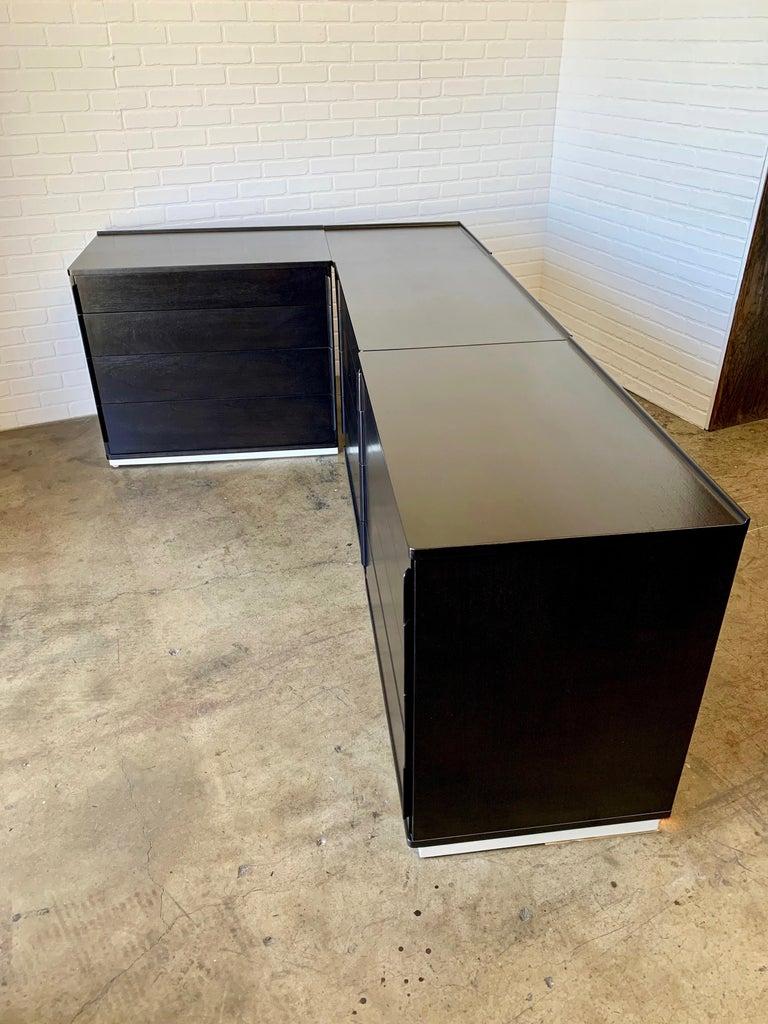 20th Century Edward Wormley for Dunbar Four-Piece Corner Dresser For Sale