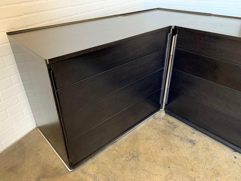 Wood Edward Wormley for Dunbar Four-Piece Corner Dresser For Sale