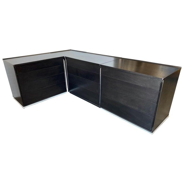 Edward Wormley for Dunbar Four-Piece Corner Dresser For Sale