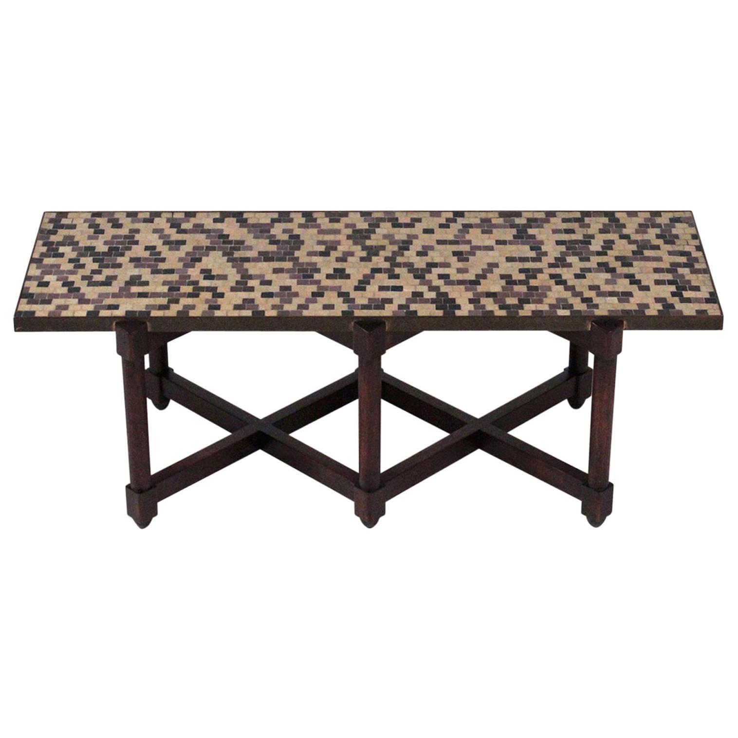Edward Wormley for Dunbar Glass Tile Coffee Table