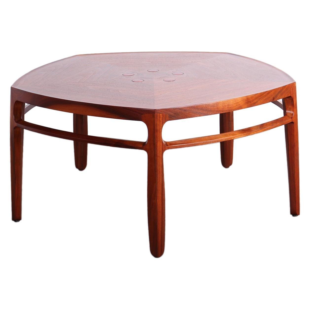 Edward Wormley for Dunbar Janus Coffee Table with Natzler Tiles