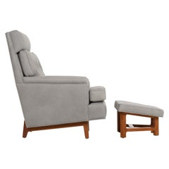 Edward Wormley for Dunbar Janus Lounge Chair and Ottoman