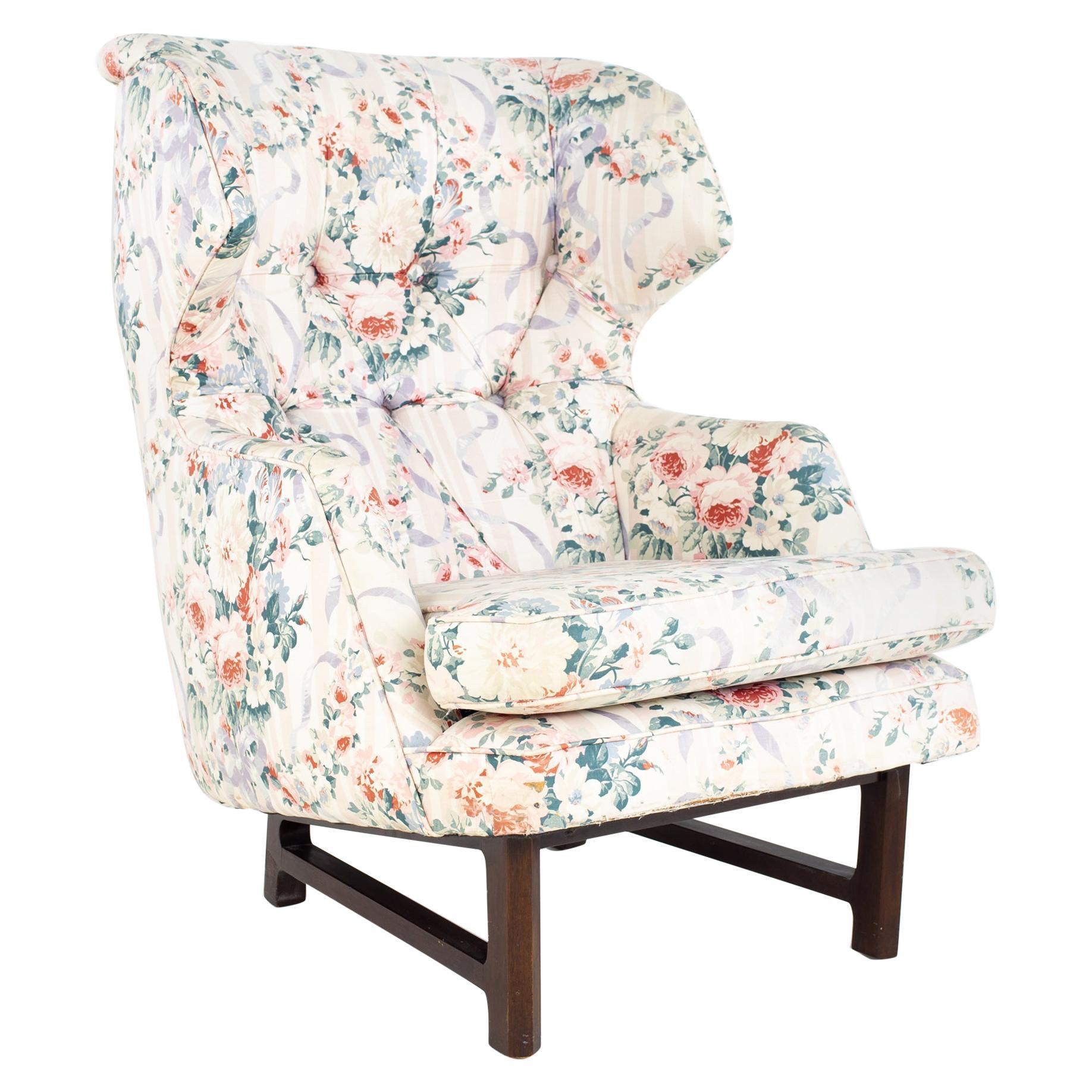 Edward Wormley for Dunbar Janus Model 5761 Mid Century Wingback Lounge Chair