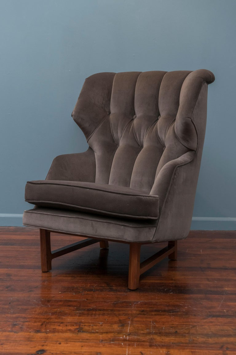Edward Wormley design wing chair for his