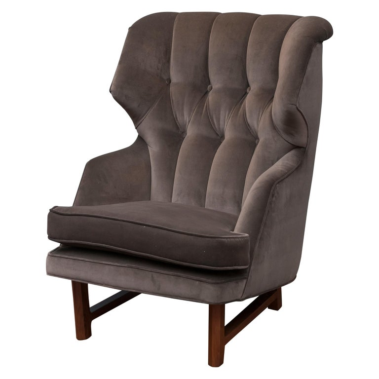 "Edward Wormley for Dunbar ""Janus"" Wing Chair For Sale"