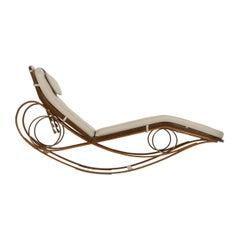 Edward Wormley for Dunbar Laminated Rocking Chaise Prototype