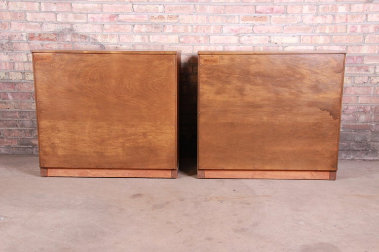 Edward Wormley for Dunbar Mahogany Bachelor Chests or Large Nightstands, Pair For Sale 9