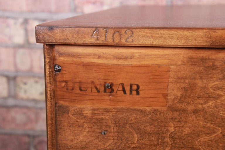 Edward Wormley for Dunbar Mahogany Bachelor Chests or Large Nightstands, Pair For Sale 10