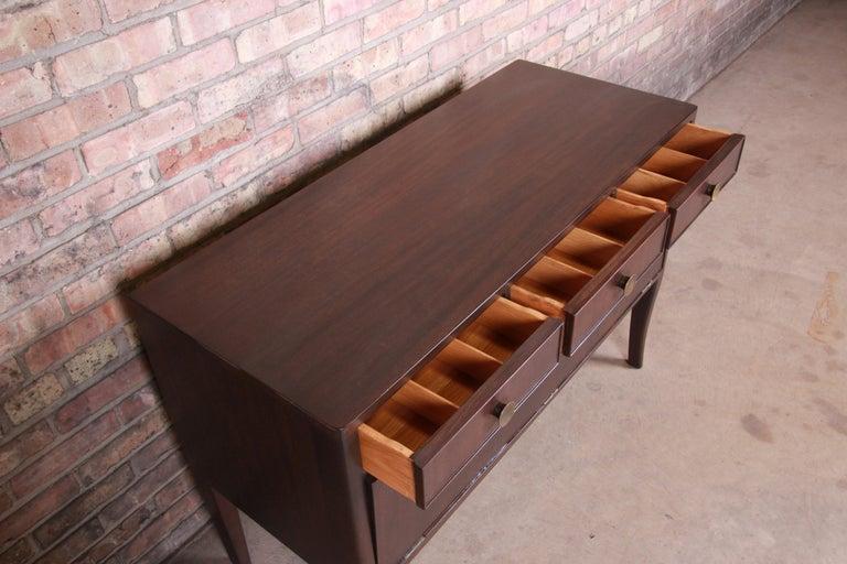 Edward Wormley for Dunbar Mahogany Sideboard Credenza or Bar Cabinet For Sale 1
