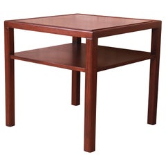Edward Wormley for Dunbar Mahogany Two-Tier Occasional Side Table, Refinished