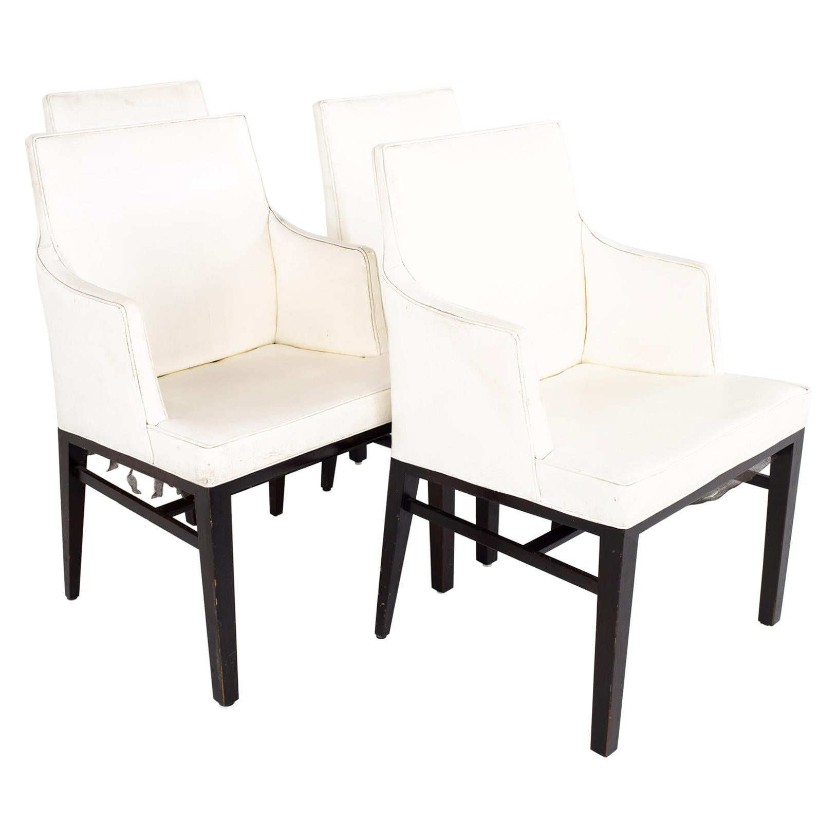 Edward Wormley for Dunbar Mid Century Dining Chairs, Set of 4