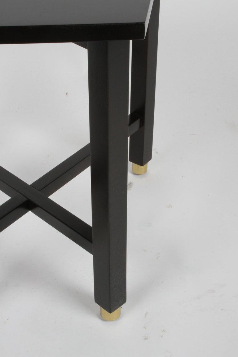 American Edward Wormley for Dunbar Mid-Century Ebonized Trapezoidal Side or Drinks Table For Sale