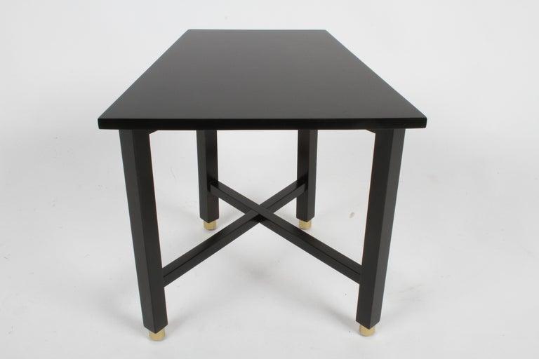 Mahogany Edward Wormley for Dunbar Mid-Century Ebonized Trapezoidal Side or Drinks Table For Sale