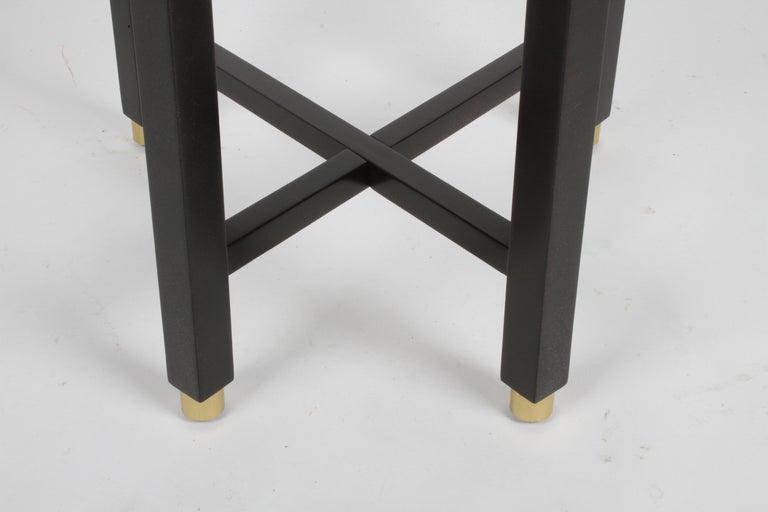 Edward Wormley for Dunbar Mid-Century Ebonized Trapezoidal Side or Drinks Table For Sale 1