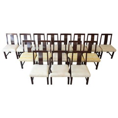 Edward Wormley for Dunbar Mid-Century Modern Dining Chairs, Set of 16