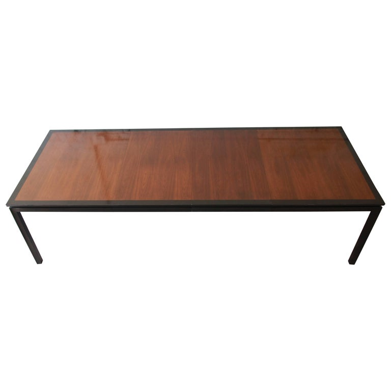 Edward Wormley For Dunbar Mid Century Modern Extension Dining Table 1950s