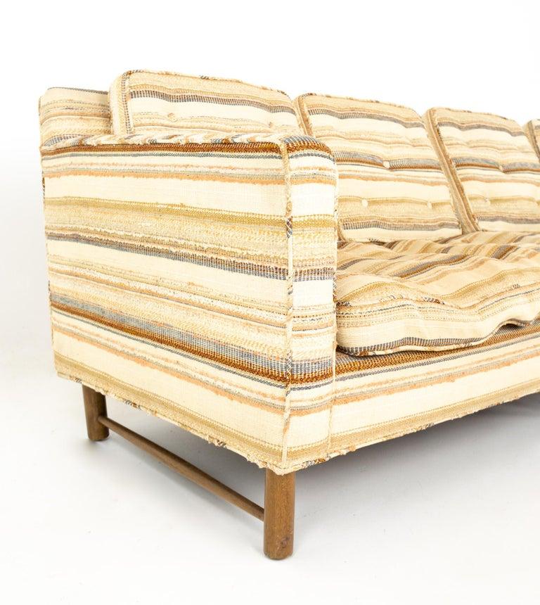 Upholstery Edward Wormley for Dunbar Mid Century Sofa For Sale