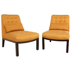 Edward Wormley for Dunbar Mid Century Slipper Lounge Chairs, Pair
