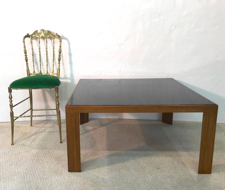 Mid-Century Modern Edward Wormley for Dunbar Model 3374 Square Cocktail Table For Sale