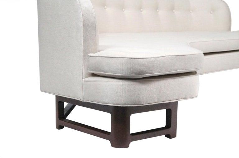 Edward Wormley for Dunbar Model 6329A Angled Sofa For Sale 6