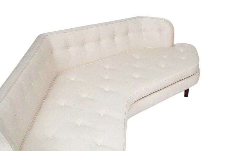 Edward Wormley for Dunbar Model 6329A Angled Sofa For Sale 7