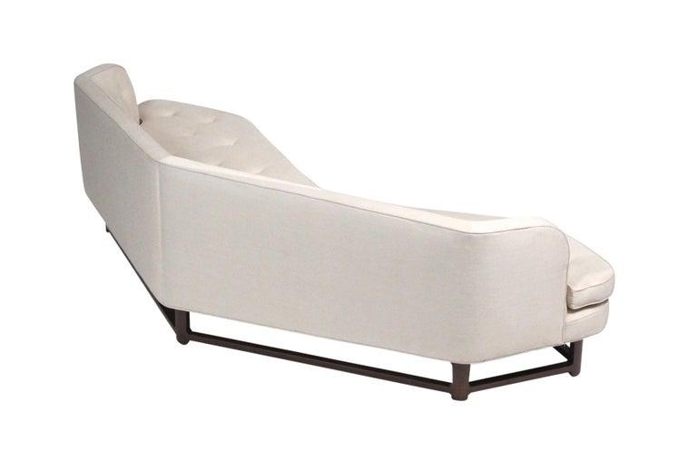 Mahogany Edward Wormley for Dunbar Model 6329A Angled Sofa For Sale