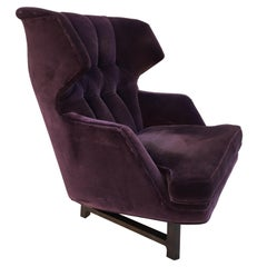 Edward Wormley for Dunbar Modern Wing Back Lounge Chair