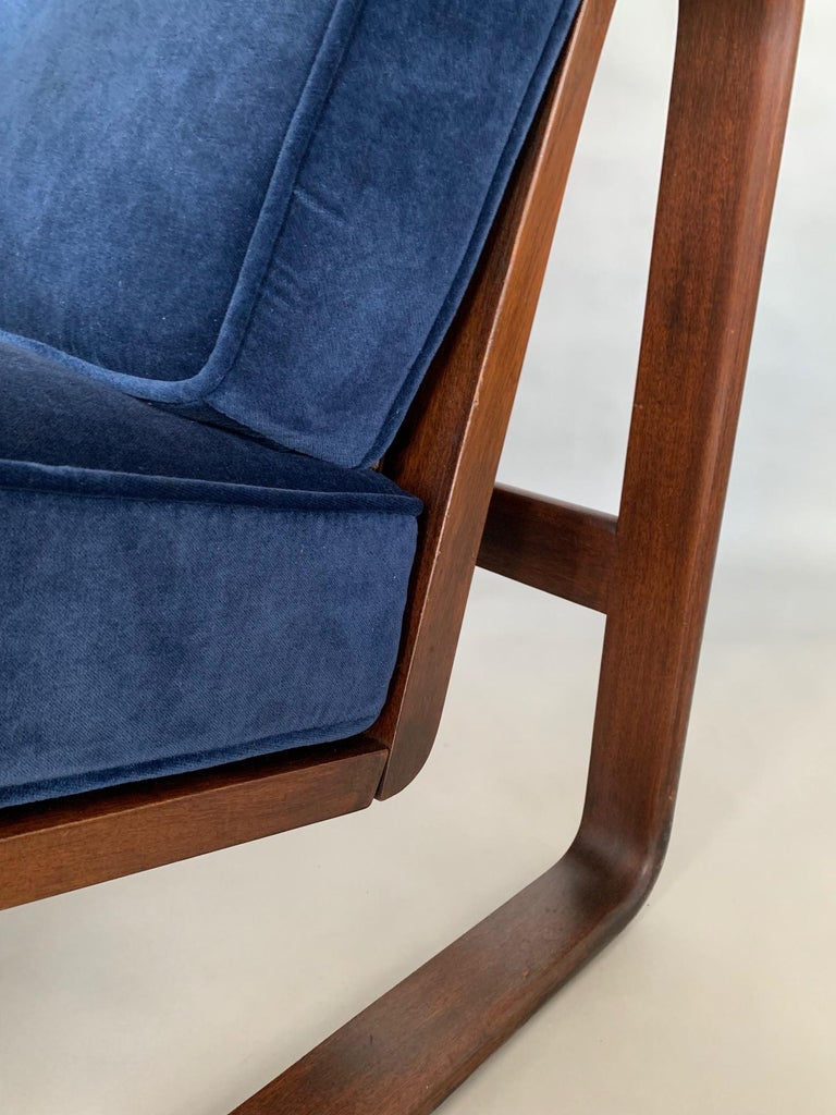 A rare Edward Wormley for Dunbar multi position recliner known as the