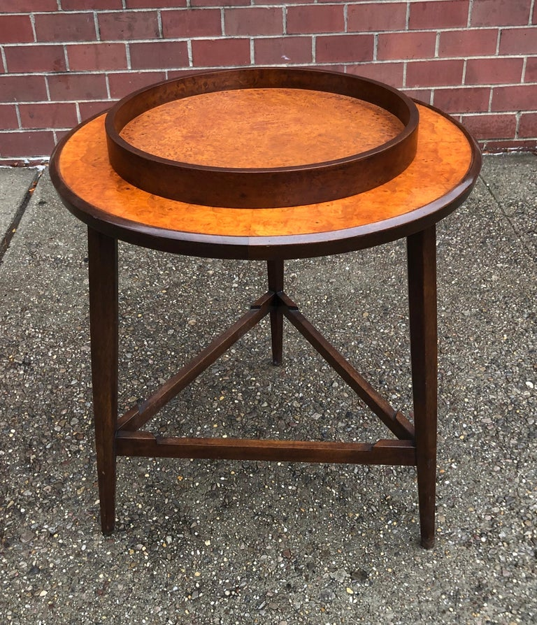 Edward Wormley for Dunbar Occasional Table with Tray For Sale 9