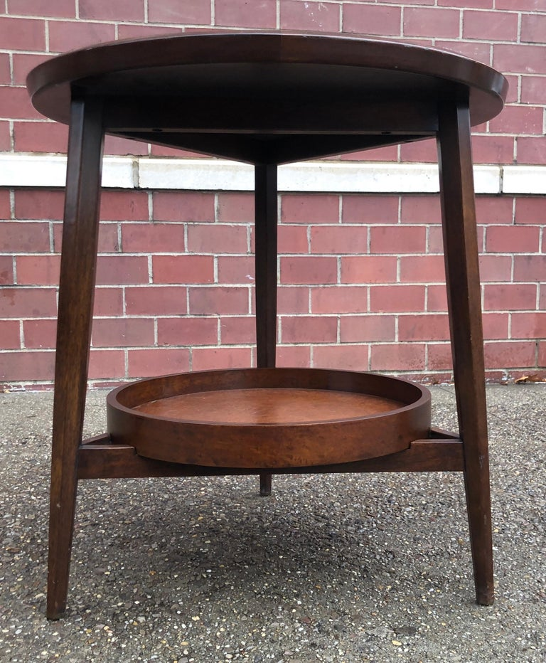 Mid-Century Modern Edward Wormley for Dunbar Occasional Table with Tray For Sale