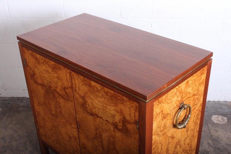 Edward Wormley for Dunbar Olive Burl Cabinet For Sale 6