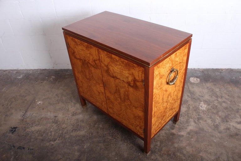 Edward Wormley for Dunbar Olive Burl Cabinet For Sale 7
