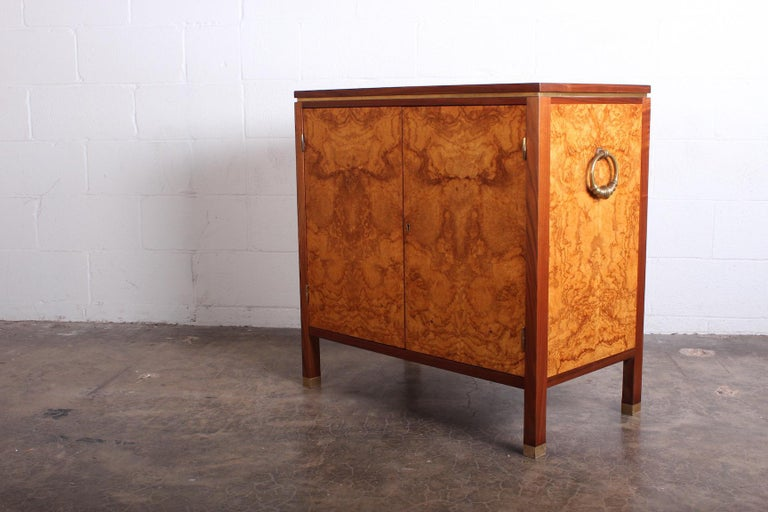Edward Wormley for Dunbar Olive Burl Cabinet For Sale 8