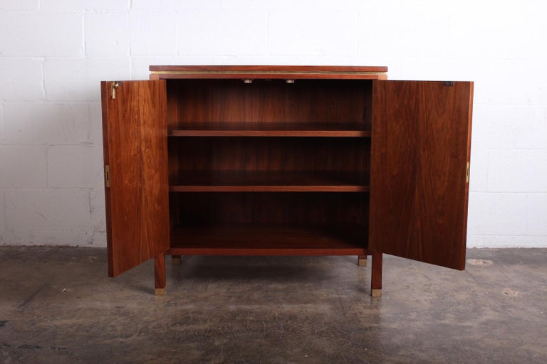 Mid-20th Century Edward Wormley for Dunbar Olive Burl Cabinet For Sale