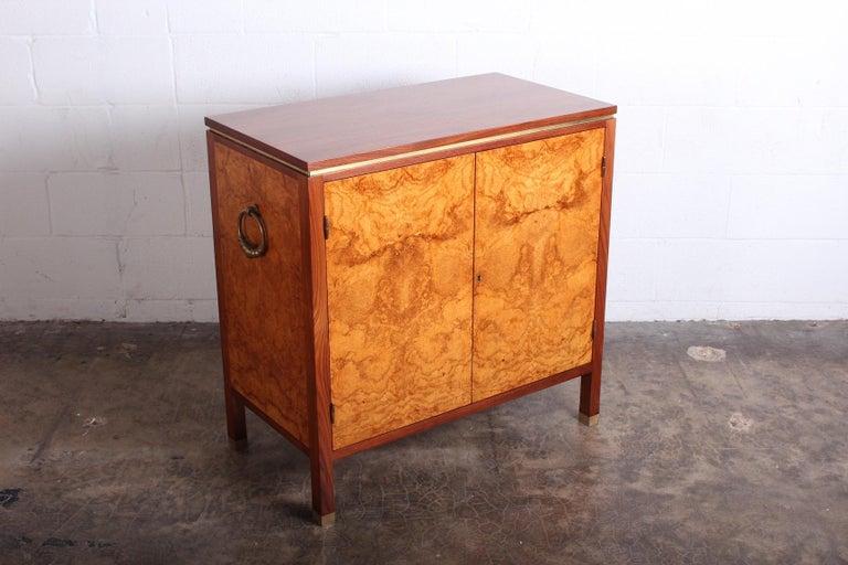 Edward Wormley for Dunbar Olive Burl Cabinet For Sale 1
