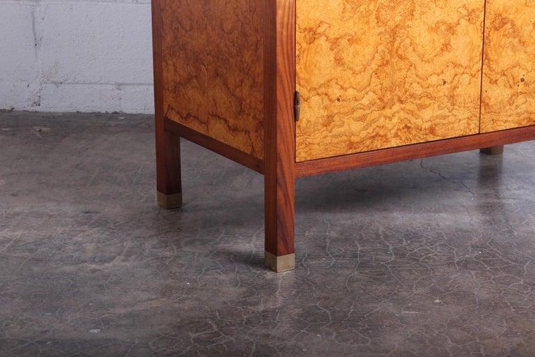 Edward Wormley for Dunbar Olive Burl Cabinet For Sale 2