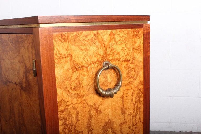 Edward Wormley for Dunbar Olive Burl Cabinet For Sale 5