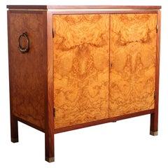 Edward Wormley for Dunbar Olive Burl Cabinet