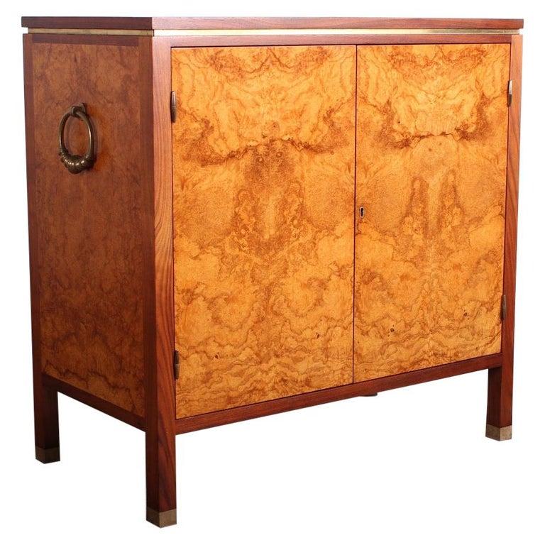 Edward Wormley for Dunbar Olive Burl Cabinet For Sale